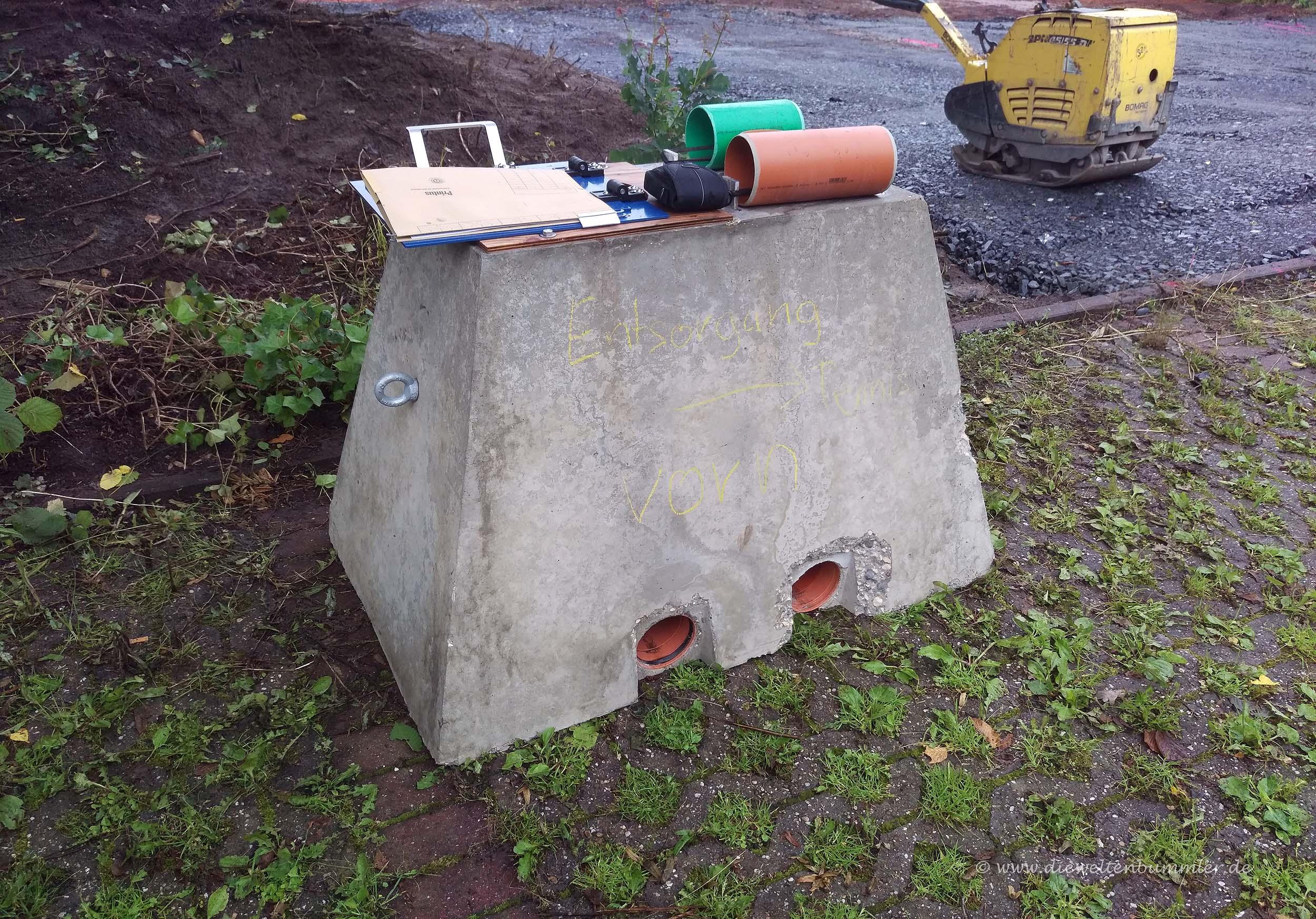 Fundament für die Frischwassersäule