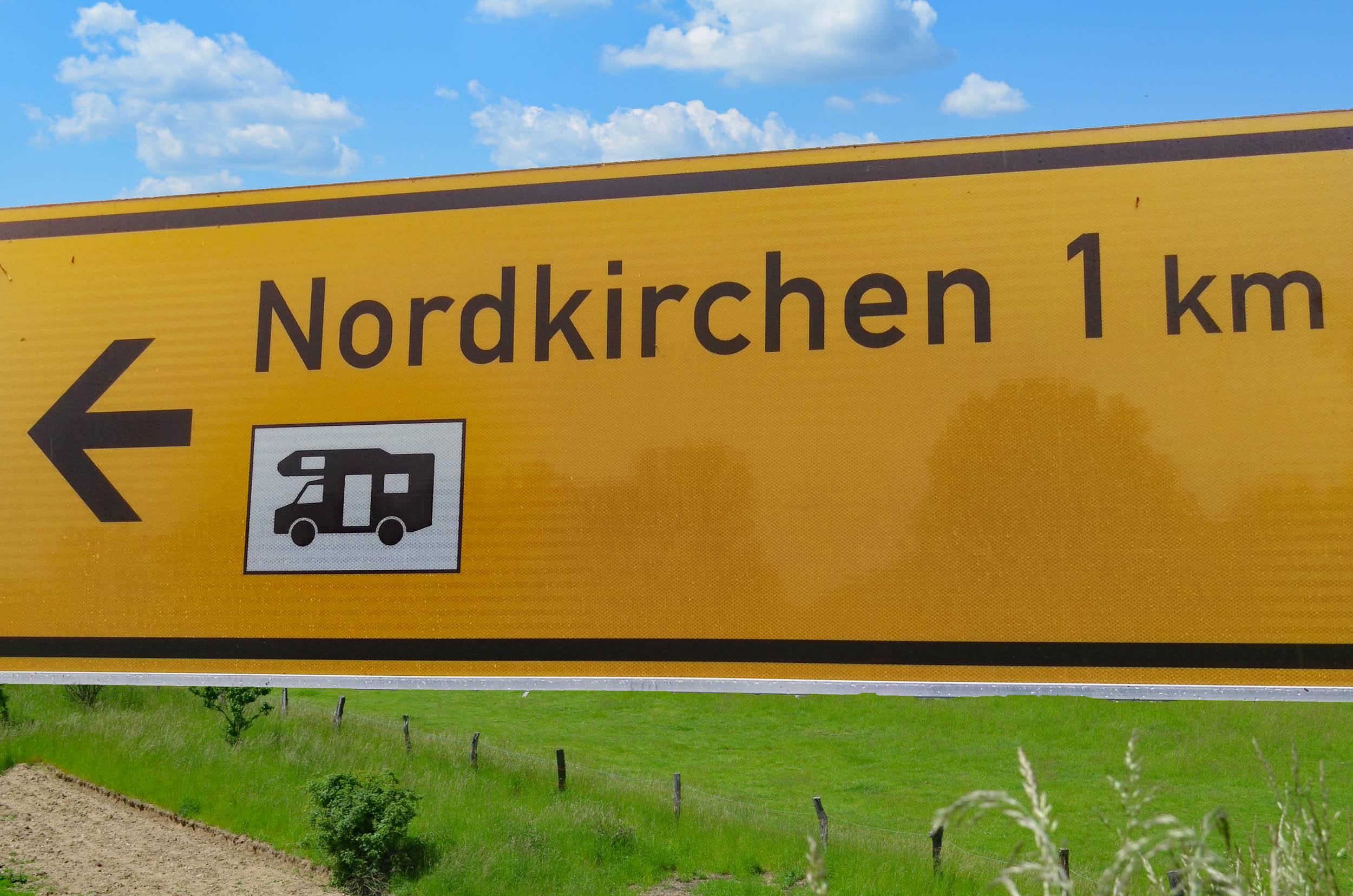 Schild nach Nordkirchen