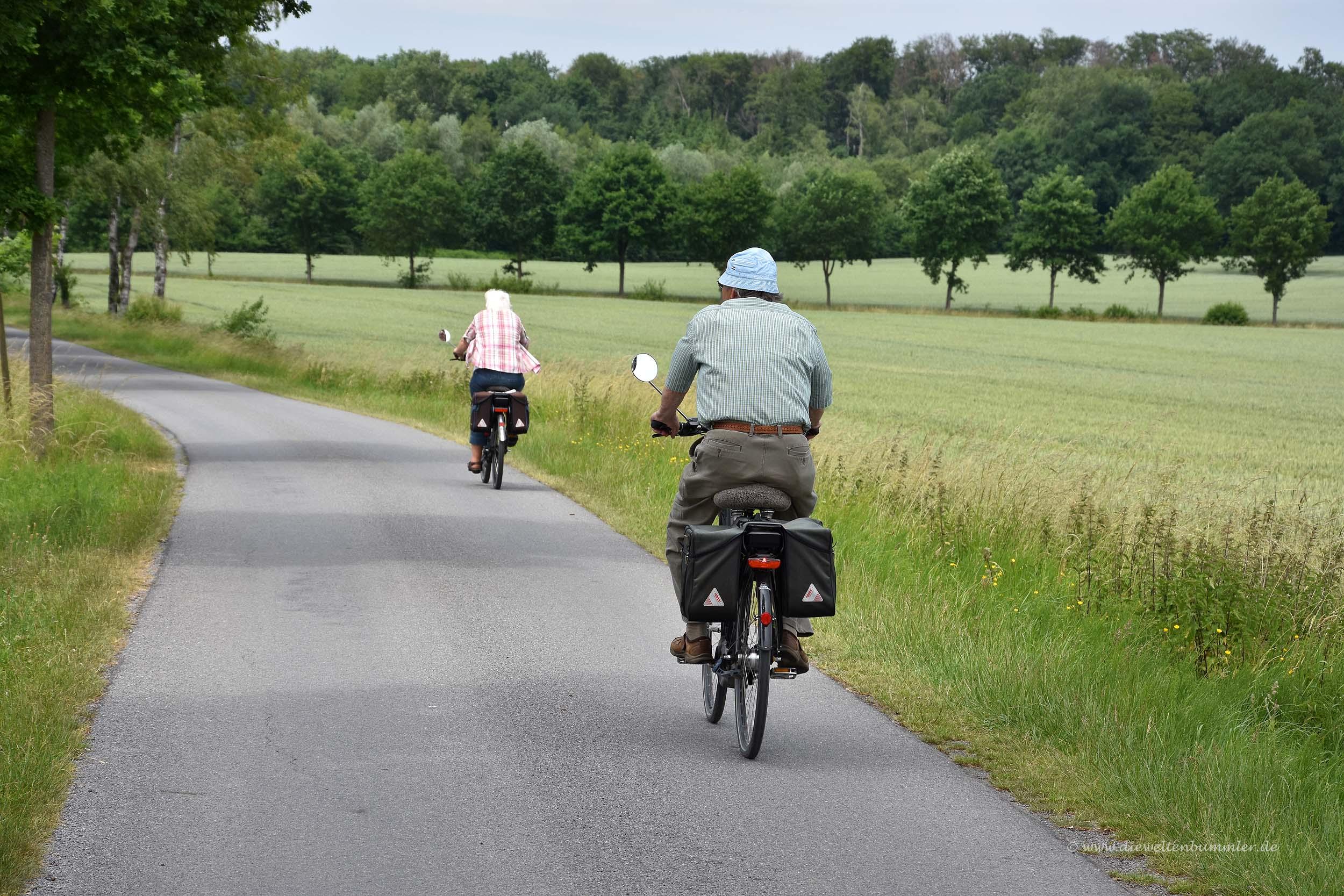Radfahrer auf der Pättkestour