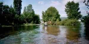 Radeln durch Hochwasser