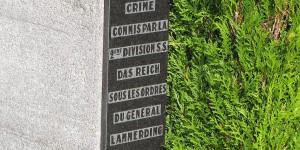 Gedenktafel in Oradour-sur-Glane