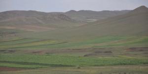 Sanfte Hügel im Norden Chinas