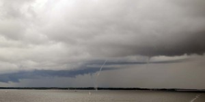 Tornado über der Ostsee