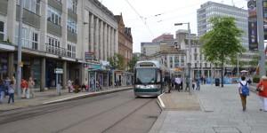 Straßenbahn in Nottingham