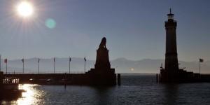 Hafeneinfahrt am Bodensee