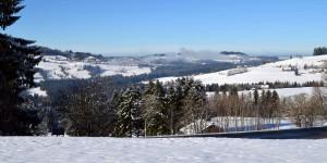 Weite Landschaft im Allgäu