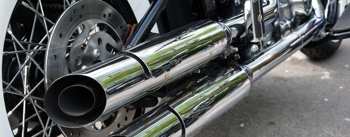 Auspuff einer Harley Davidson
