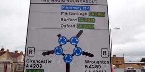 Fünf kleine Kreisverkehre bilden einen großen