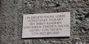 Hier wohnte Mozart