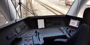 Führerstand im Bahnhof von Chur