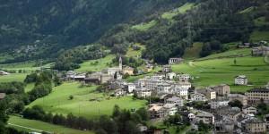 Poschiavo in der Schweiz