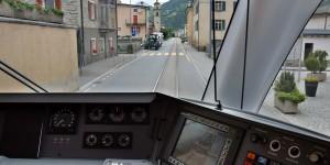 Der Zug wird zur Straßenbahn