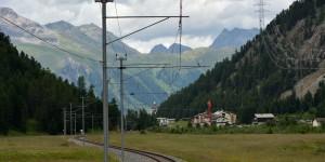 Bergkulisse in der Schweiz