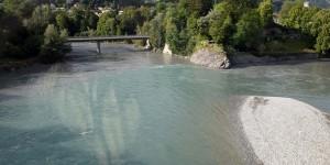 Hier treffen Vorderrhein und Hinterrhein zusammen