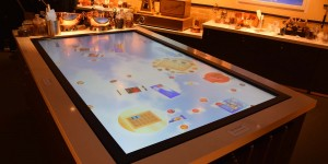 Touchscreen als Tisch