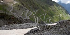 Passstraße in Südtirol