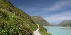 Wanderweg an der Silvretta-Straße