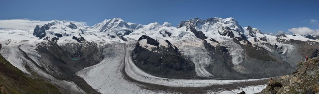Panorama vom Gornergletscher