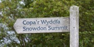 Wegweiser zum Snowdon