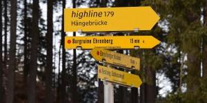 Wanderweg zur Hängebrücke