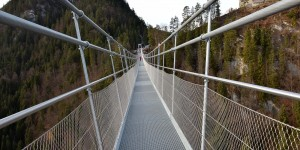 Auf der Hängebrücke