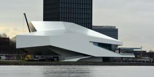 Kuriose Gebäude in Amsterdam