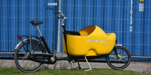 Fahrrad mit Holzschuh