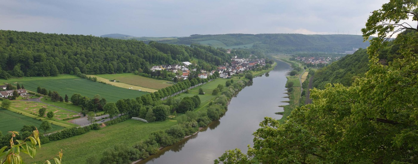 Blick vom Weser Skywalk