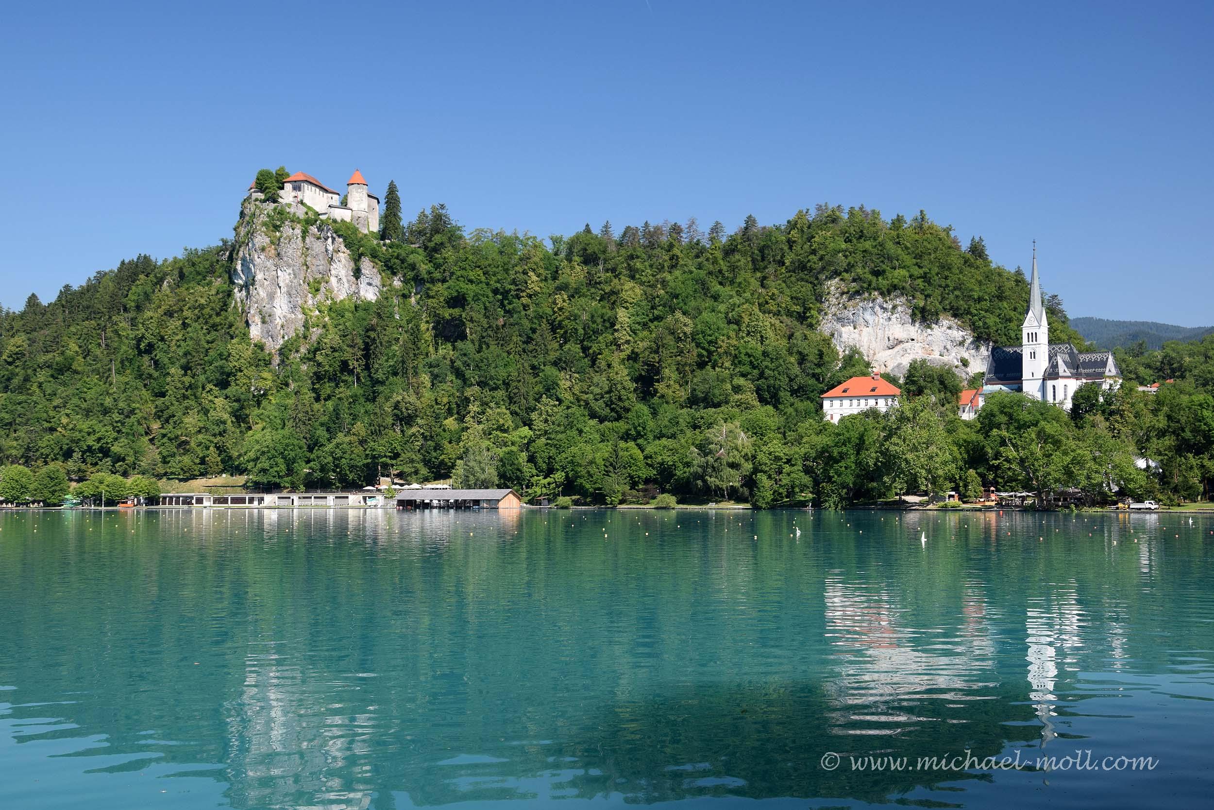 Bled mit Burg und Kirche