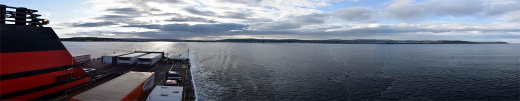Panorama auf der Fähre zur Isle Of Man (5 MB, 13417x5450 Pixel)