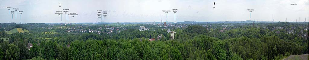 Panorama auf der Halde Rheinelbe (4 MB, 29251x2197 Pixel)