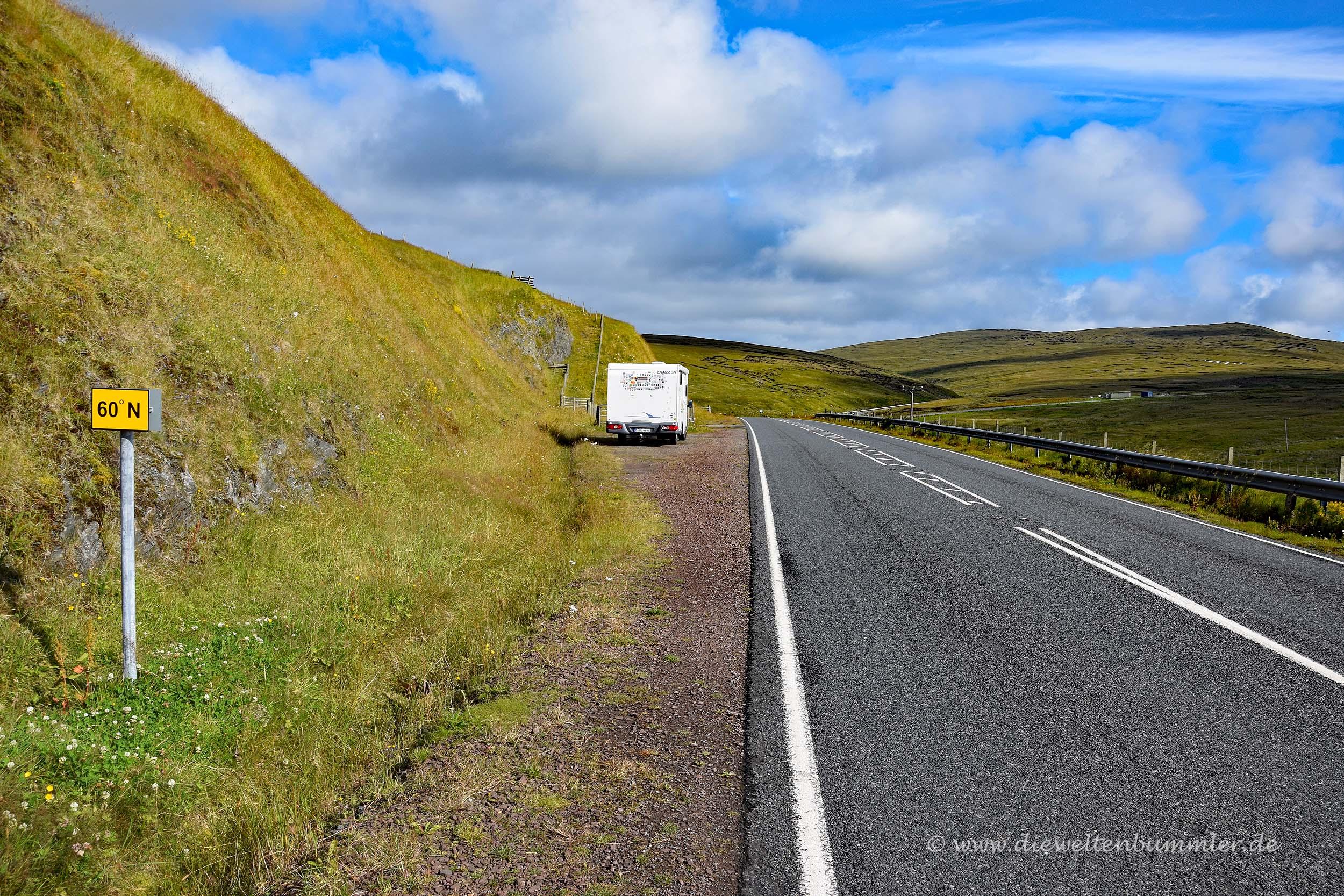 60. Breitengrad auf den Shetland-Inseln