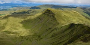 Wanderung im Brecon Beacons-Nationalpark in Wales