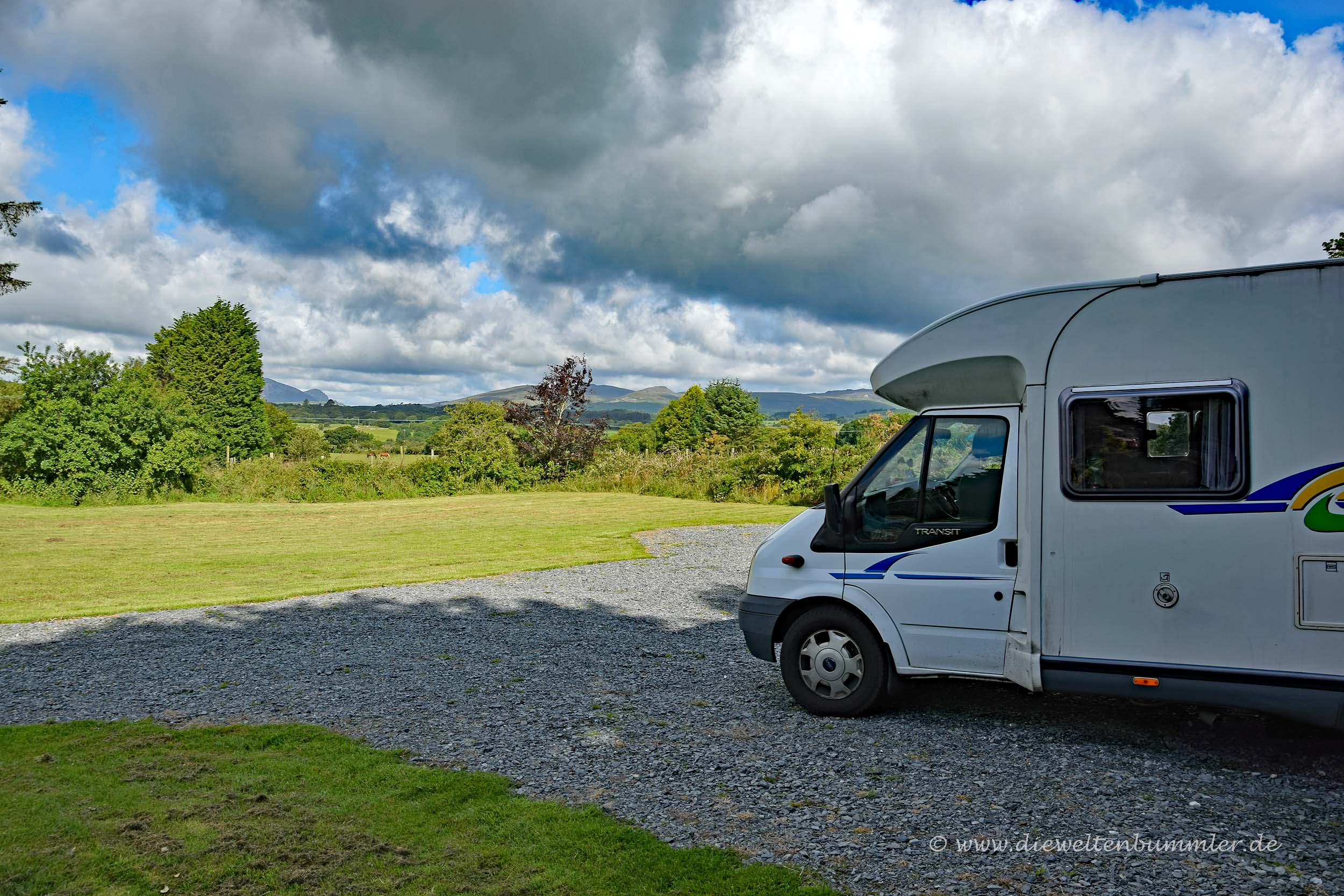 Camping mit Aussicht in Wales