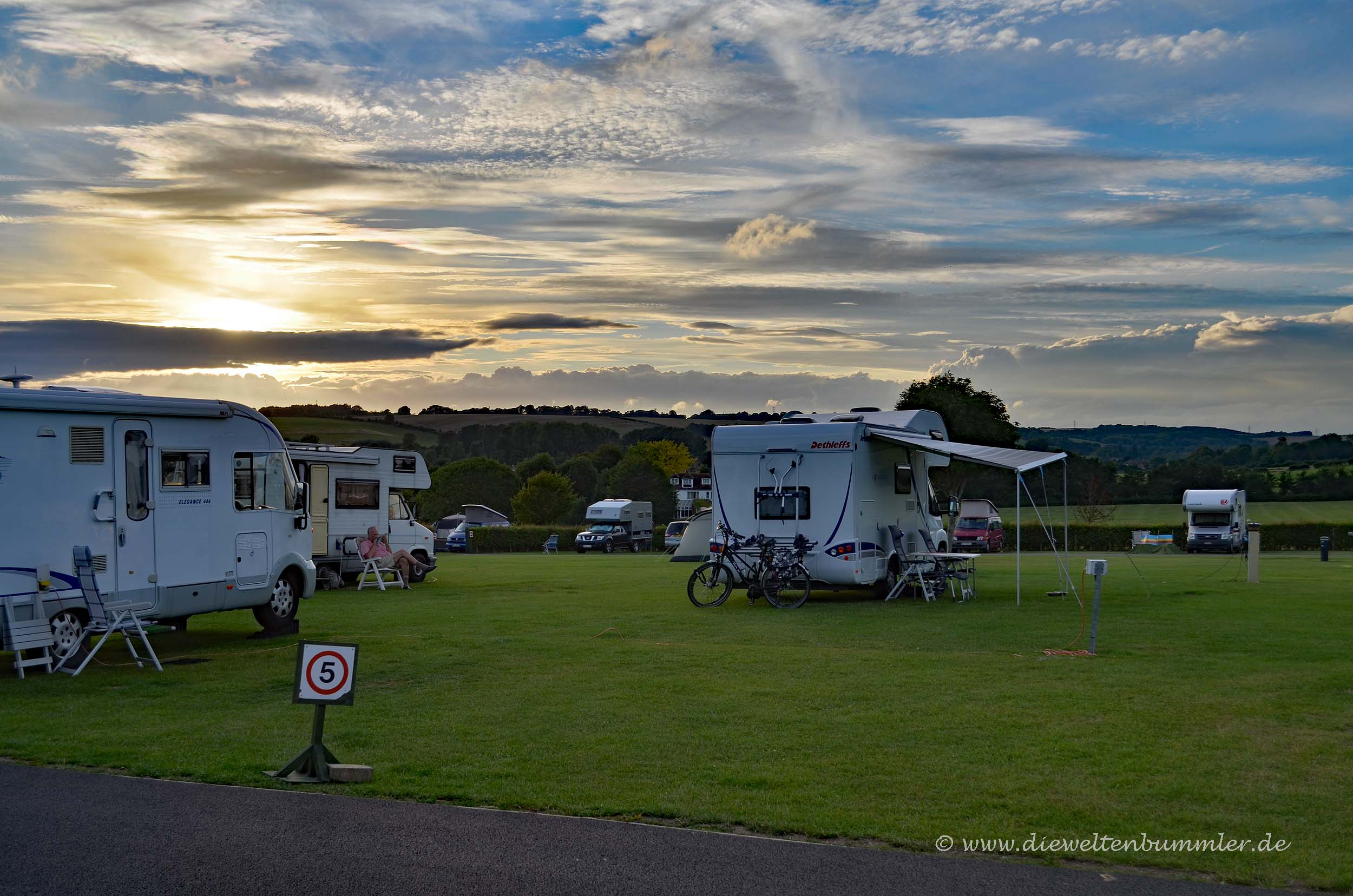 Campingplatz in England