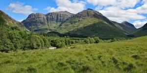 Wanderung im Glen Coe in Schottland