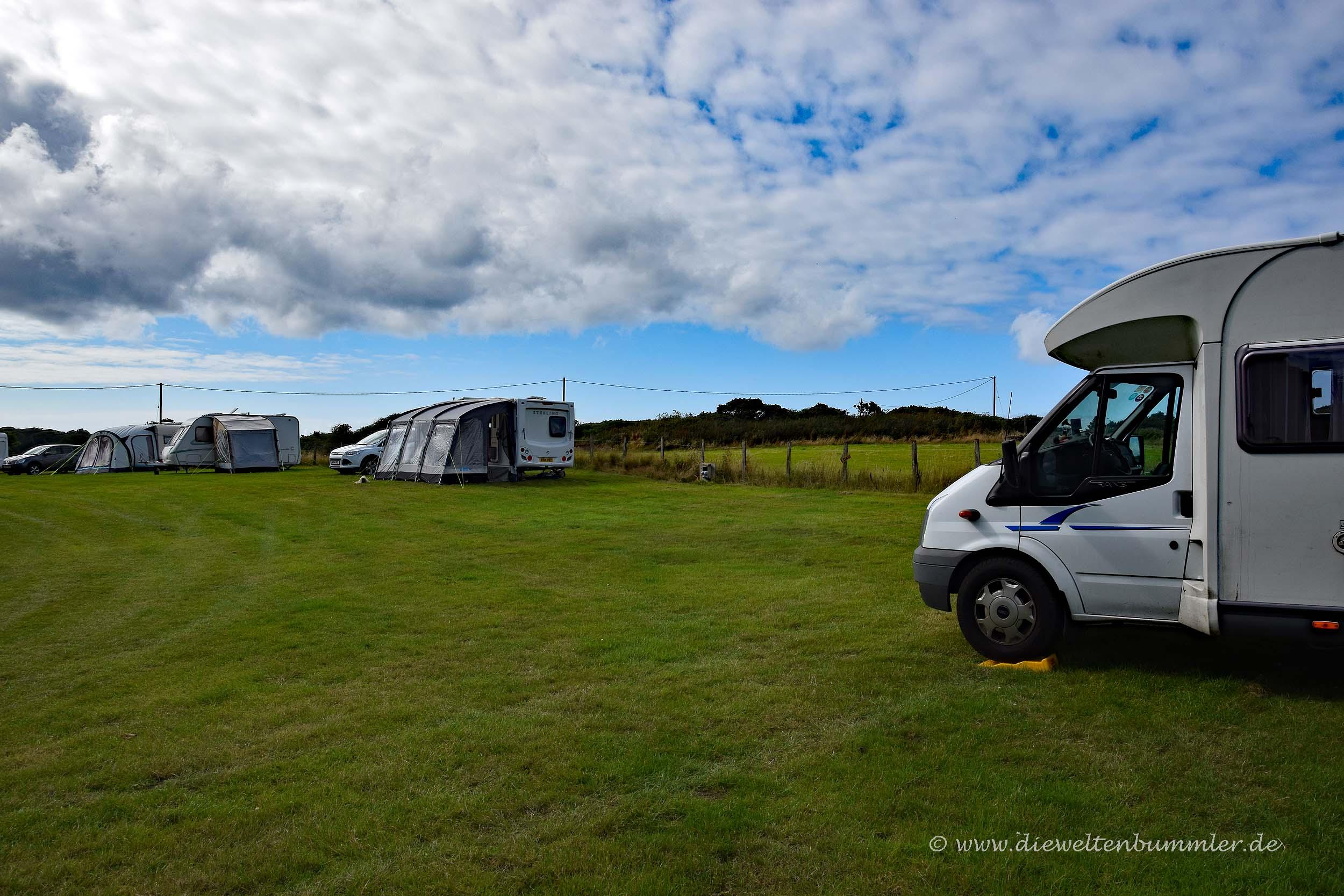 Privatcamping auf einer Farm in Cornwall