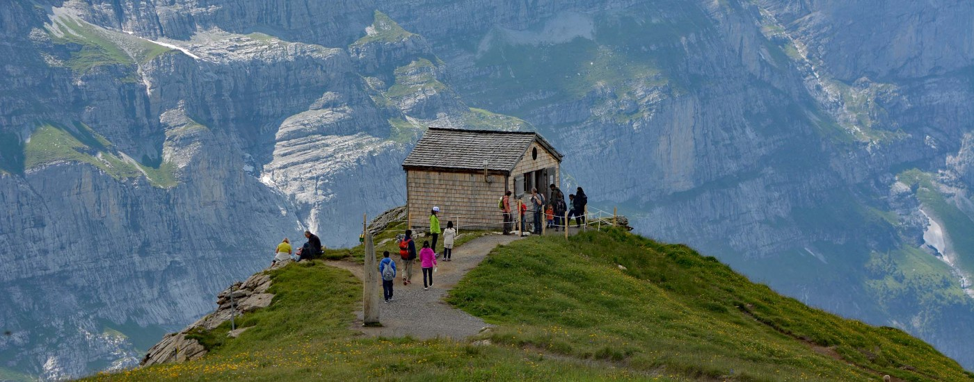 Museumshäuschen in den Schweizer Alpen
