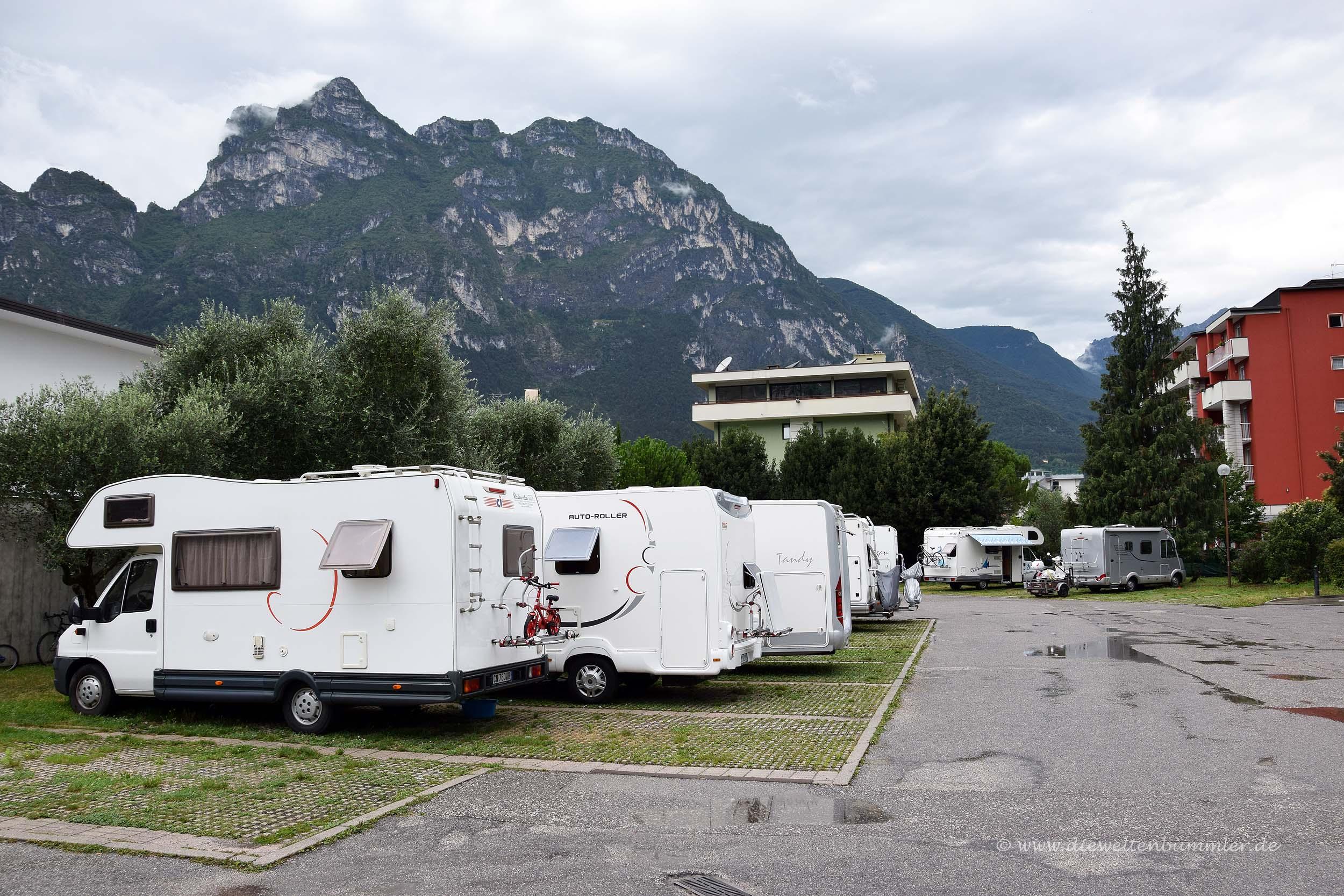 Wohnmobilstellplatz in Riva del Garda