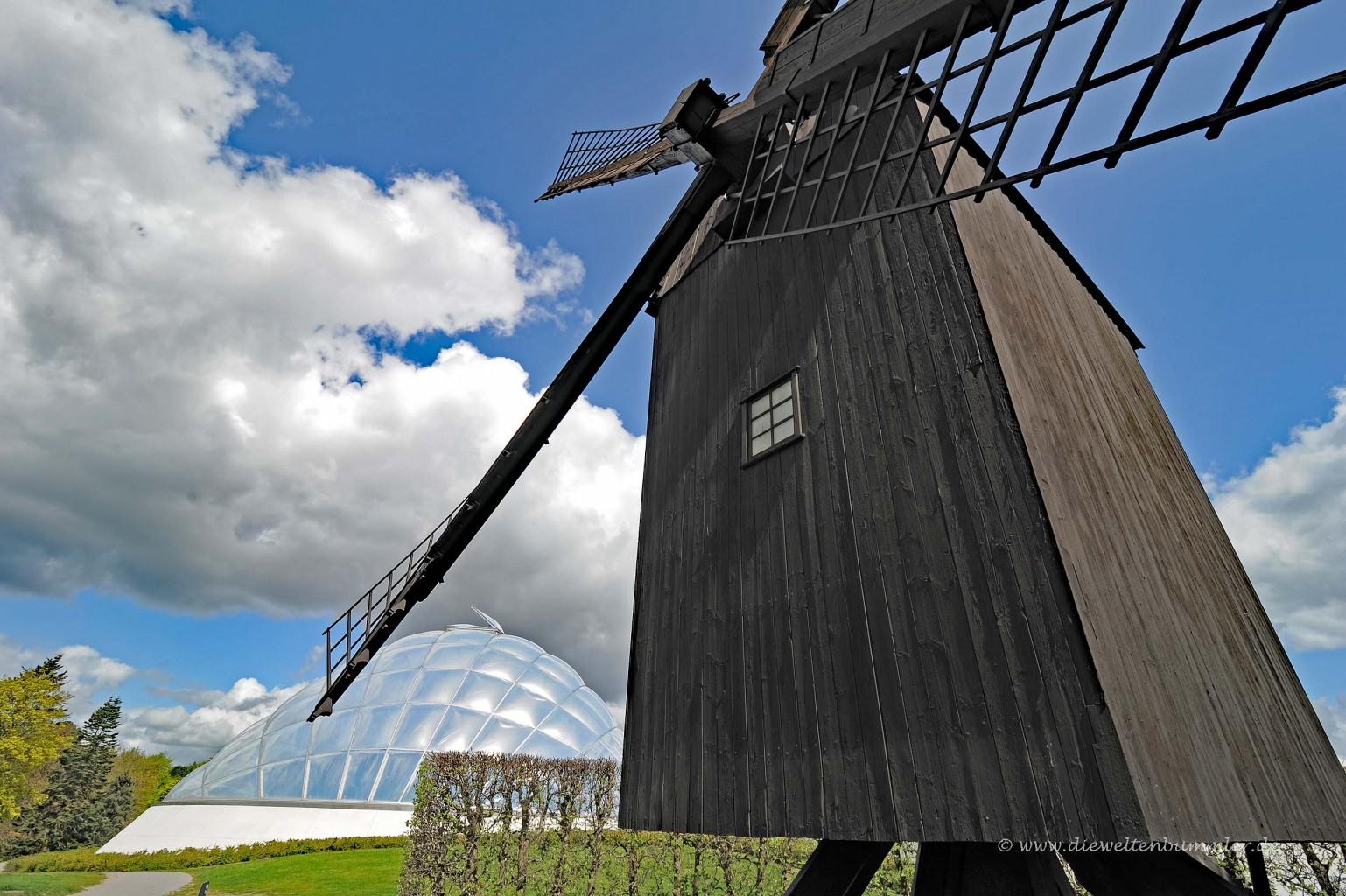 Windmühle und Botanischer Garten in Aarhus