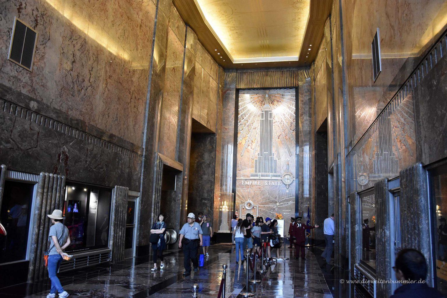 Lobby vom Empire State Building