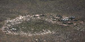 Einschlagstelle des Kraters