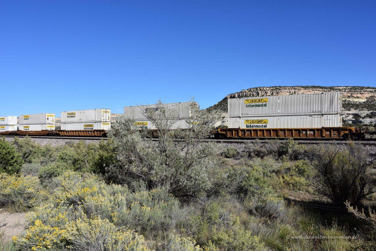 Zug mit zwei Containern