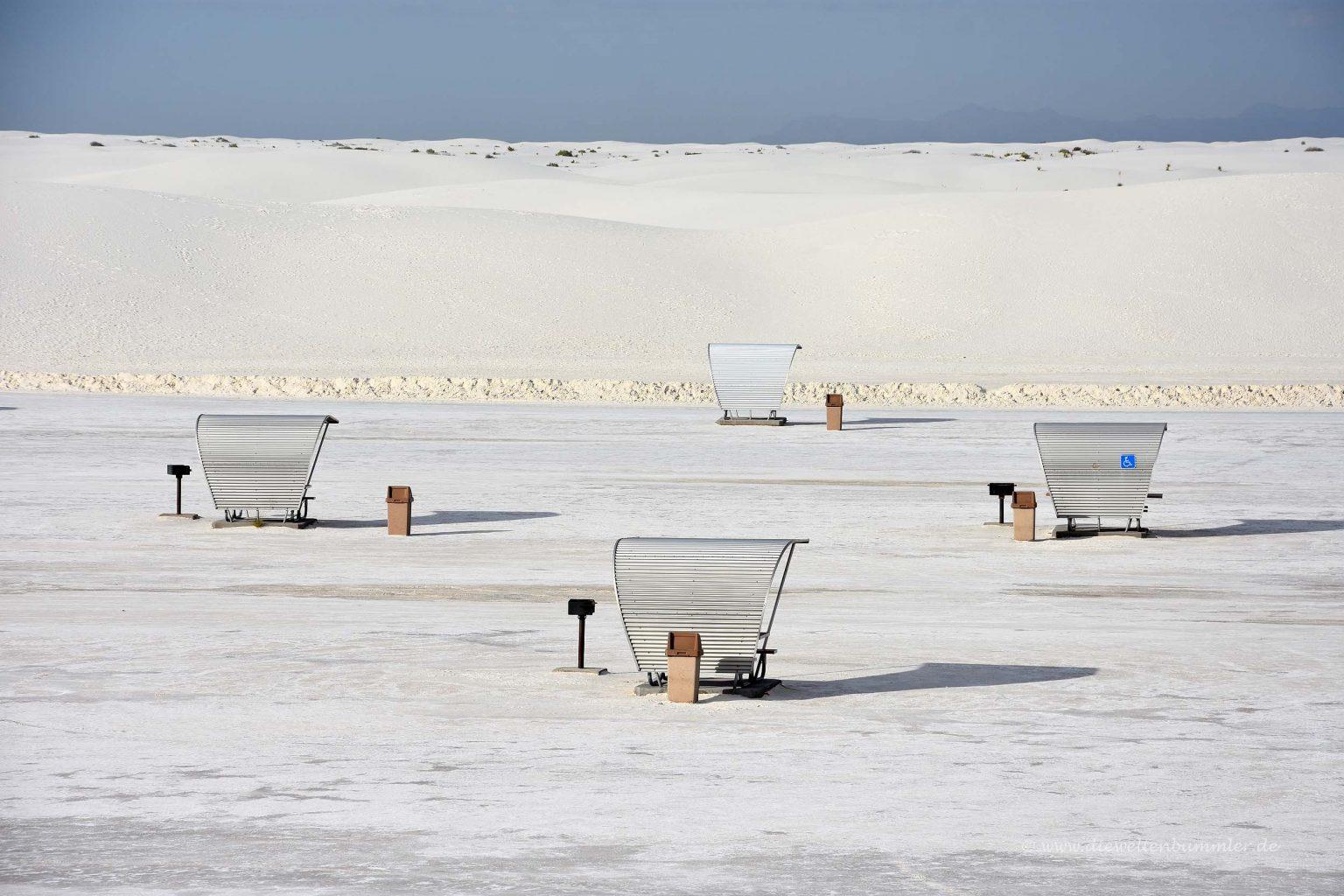 Rastplatz im White Sands