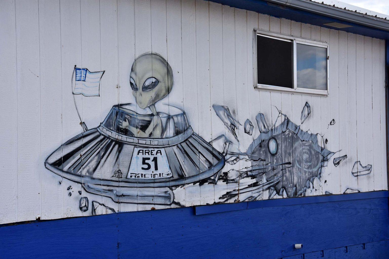 Aufgemalter Alien