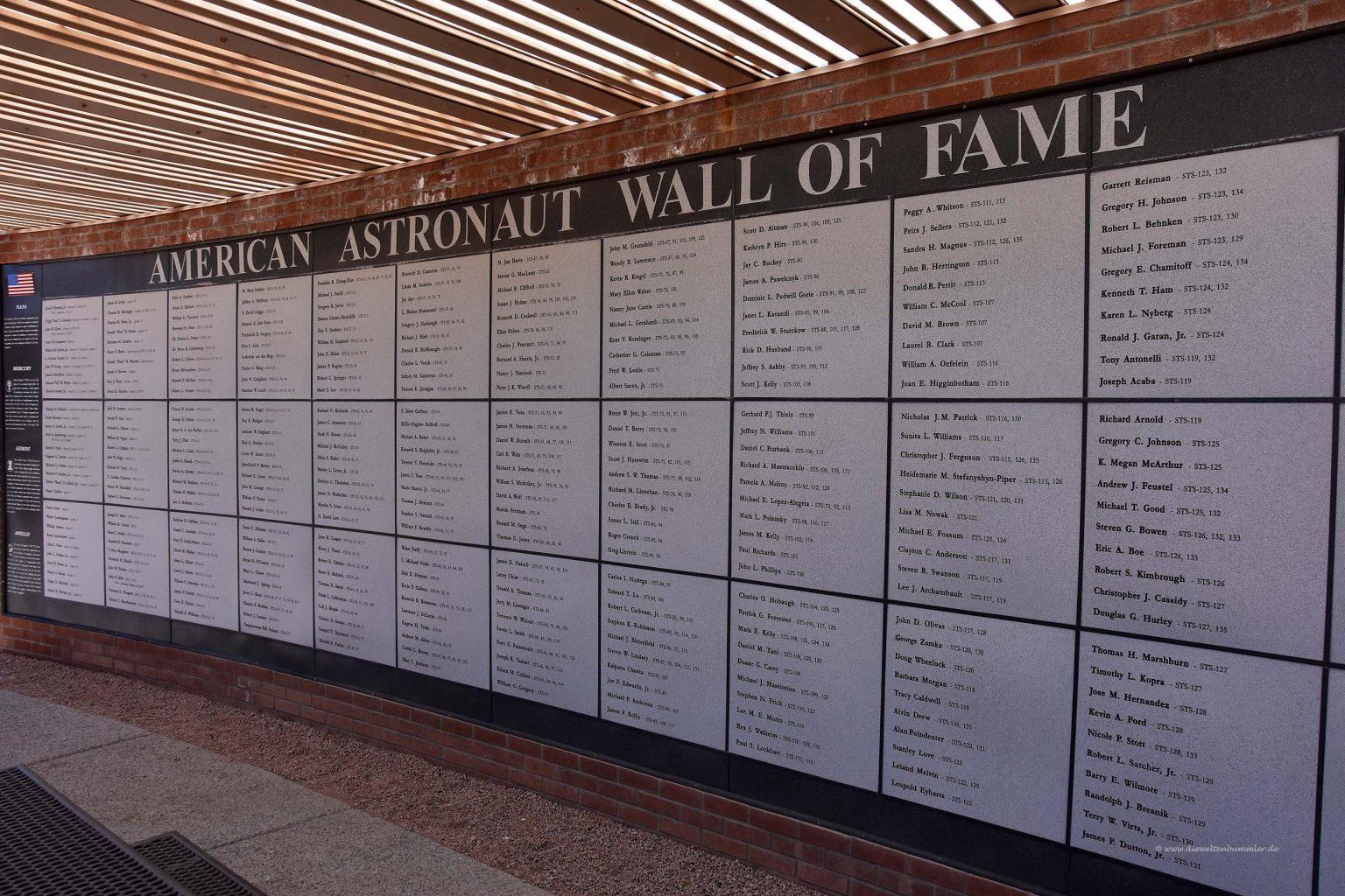 Hall of Fame der Astronauten