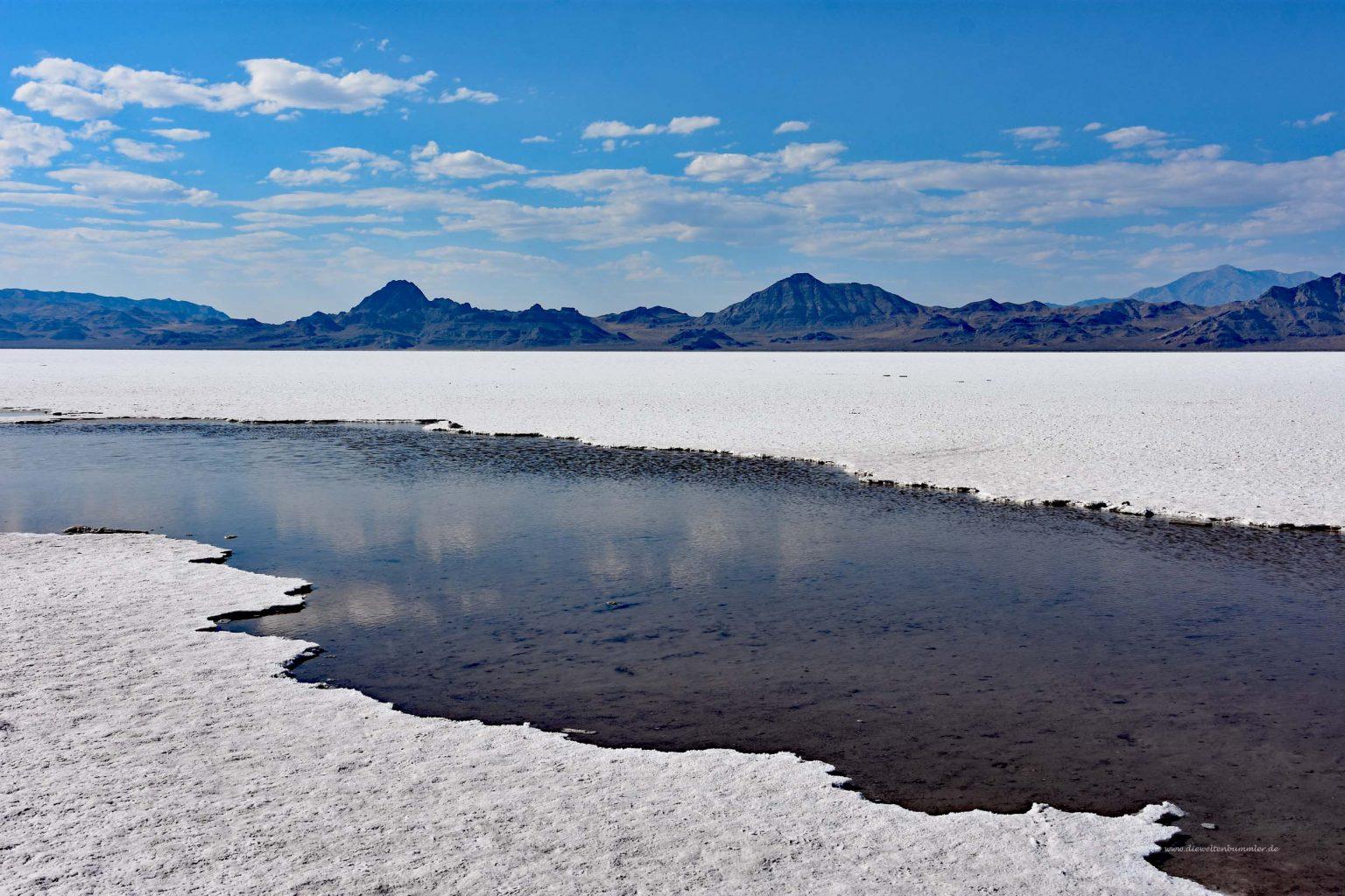 Wasser im Salt Lake
