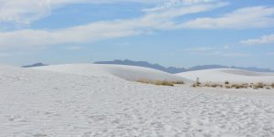 Wanderweg im White Sands National Monument