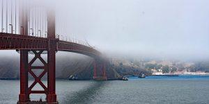Spaziergang über die Golden Gate Bridge