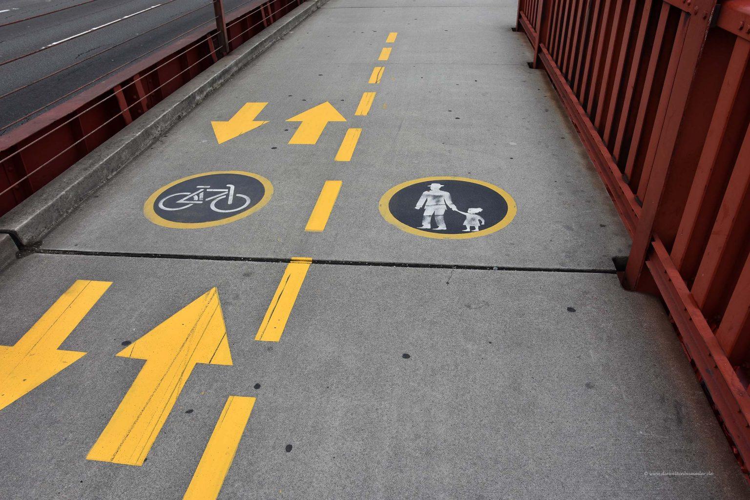 Fuß- und Radweg auf der Golden Gate